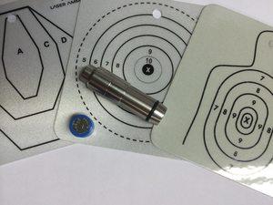laser training cartridge and target practice