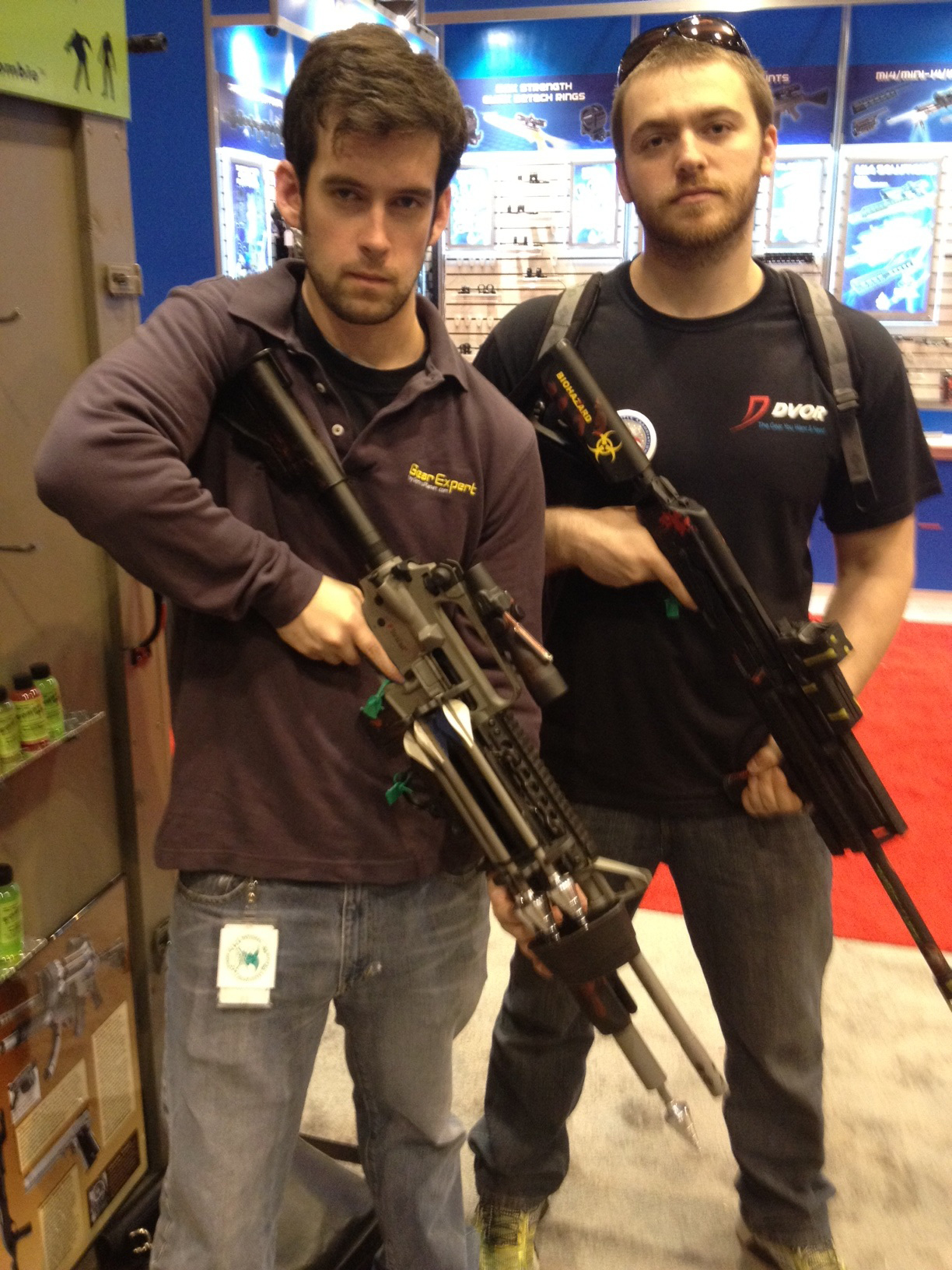 Brian and Kiril with Zombie Guns by DS Arms - GearExpert