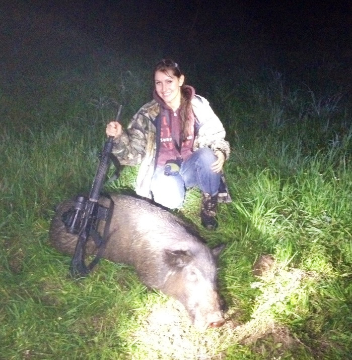 EOTech Kate's First Hog Hunt