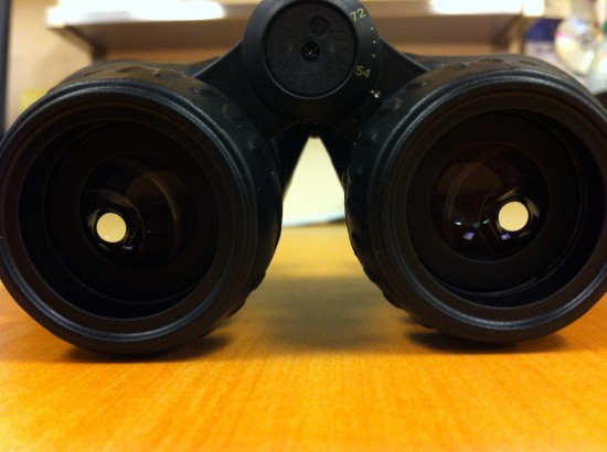 Light Passing Through the Leupold Rogue Binoculars