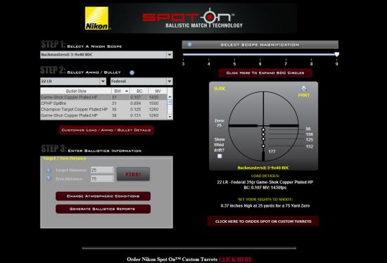 Nikon Spot on Website