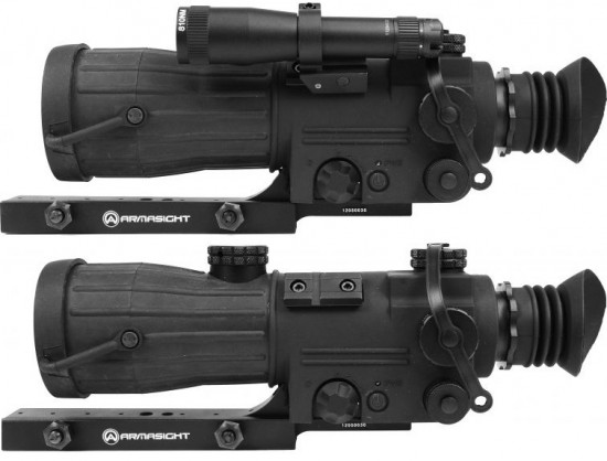 armasight OPMOD Gen1RS with and without illuminator