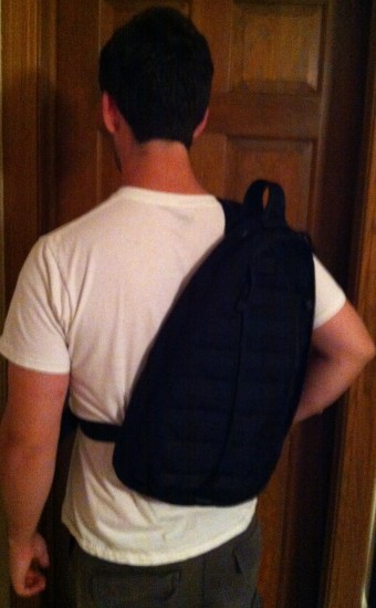 Blackhawk Sling Backpack from behind