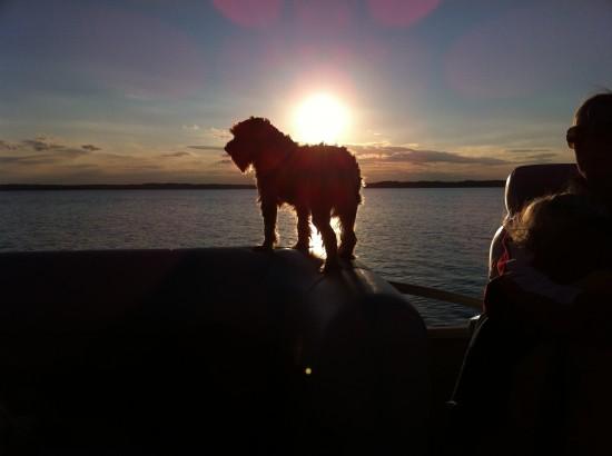 Simon on Boat