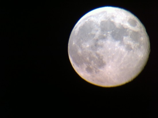 Moon through Celestron Ultima 80 with iPhone