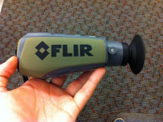The FLIR PS24 Fits in The palm of your hand