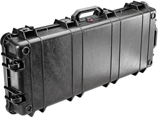 The Pelican 1700 Watertight Protector Rifle Case can safely protect a wide variety of gear and has foam inserts!