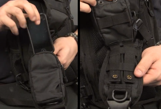 The Bi-Modular Bag's Cell Phone Pouch