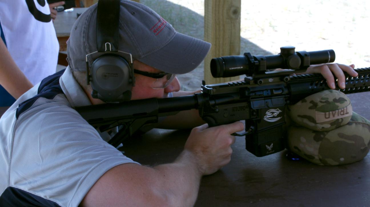 Kelly B at the Shooting Range