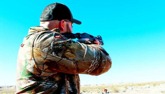Trevor take aim at the range.