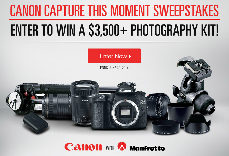 Canon Capture This Moment Sweepstakes