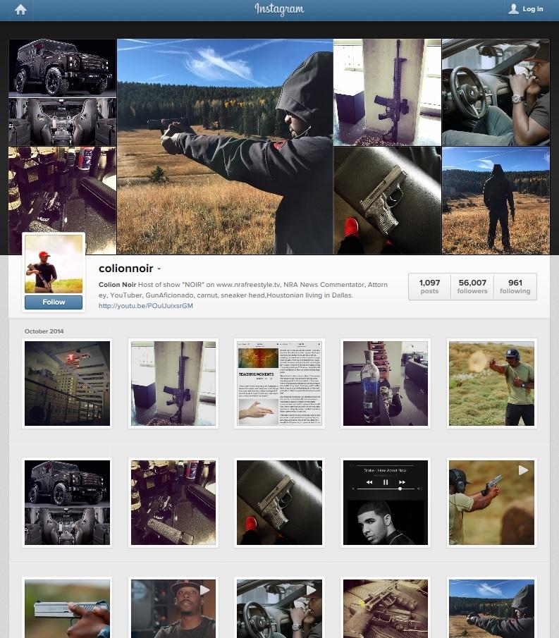 colion noir instagram screen shot