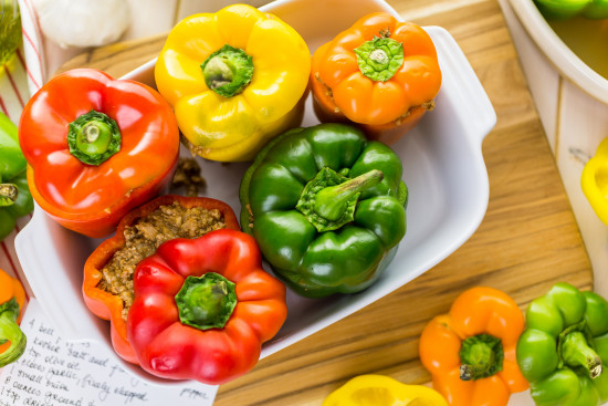 Wild Turkey Stuffed Peppers