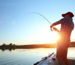 fisherman pulling in catch