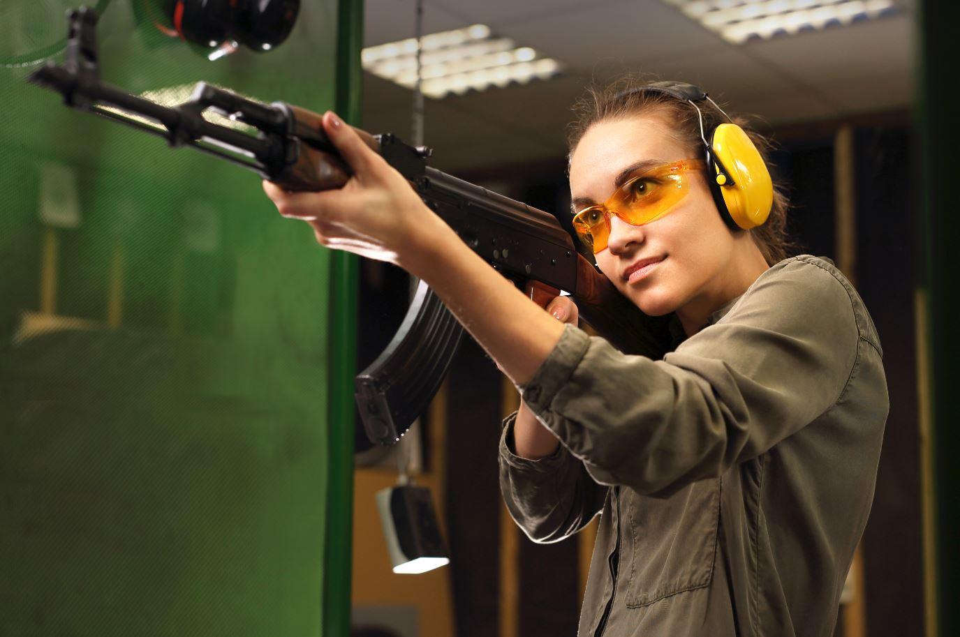 Girl Shooting at Range