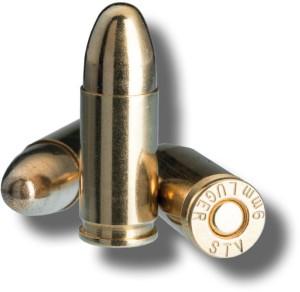 9mm Luger Cartridges
