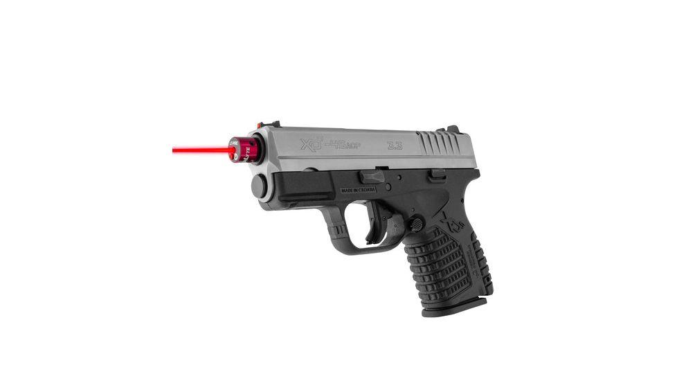 laser training cartridge inside pistol