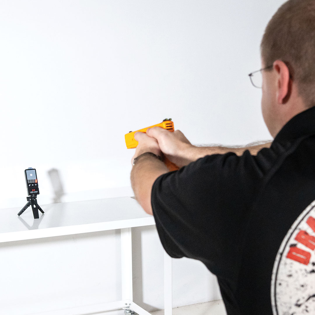 Laser Training With Pistol and Target