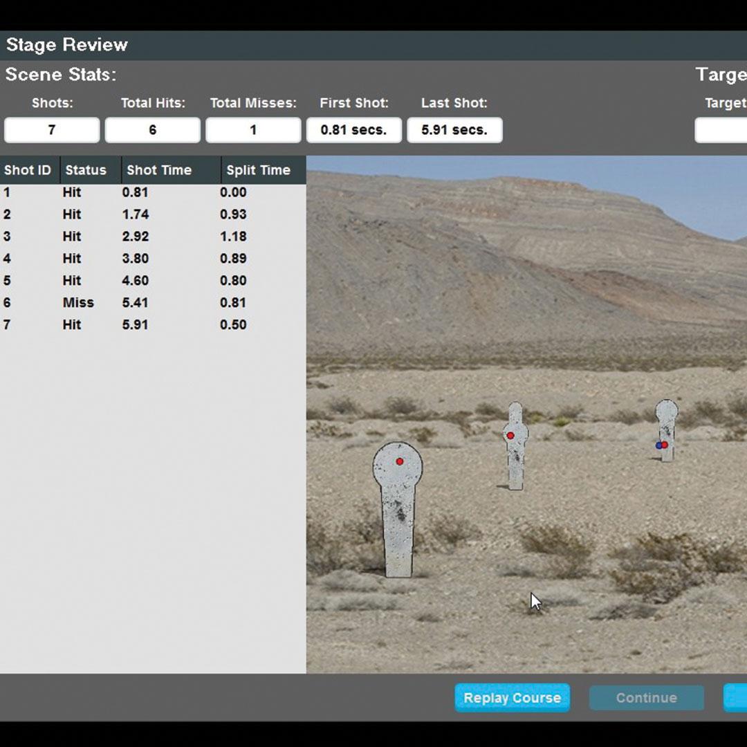 Laser Training On-Screen Reactive Target