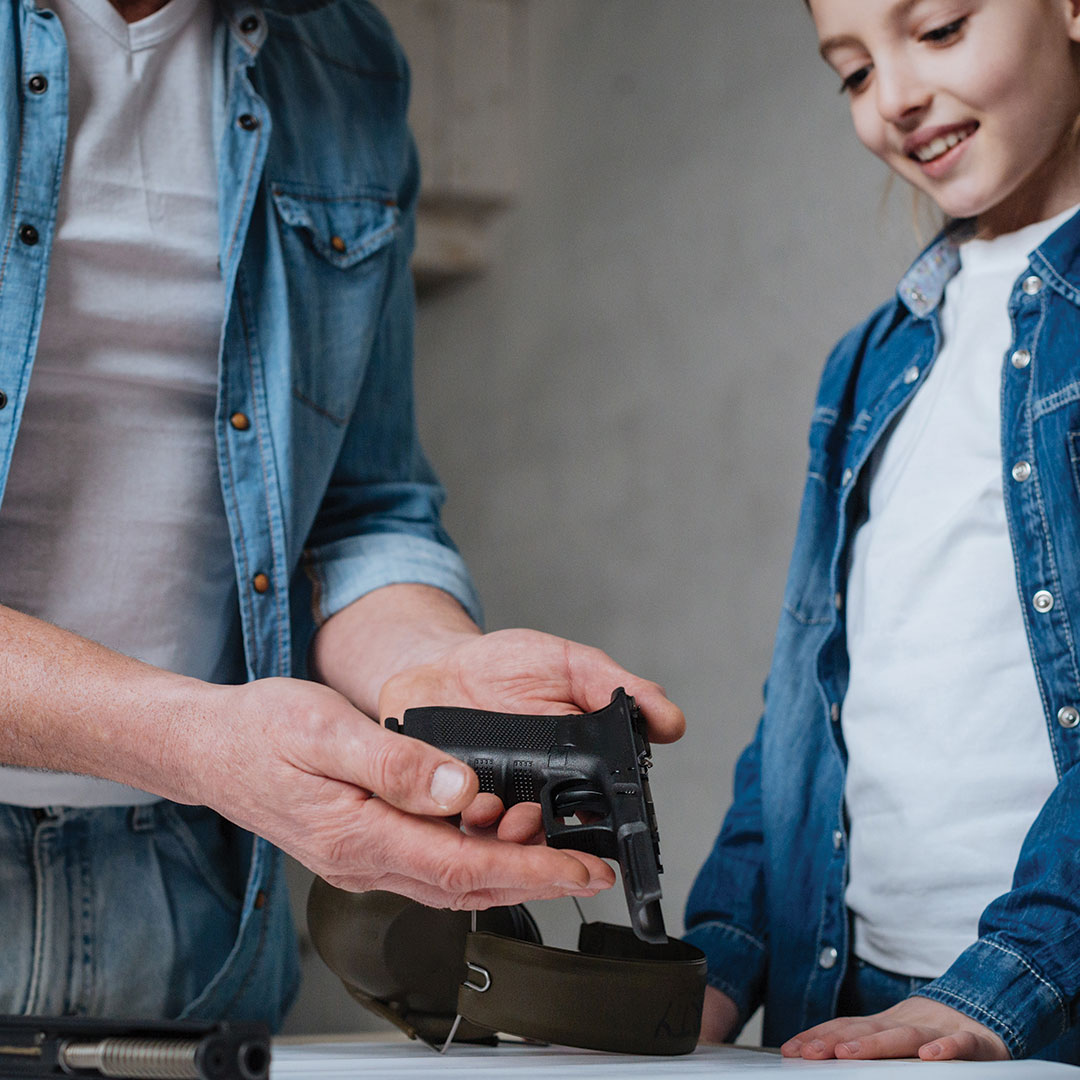 parents talking to kids about gun safety at home