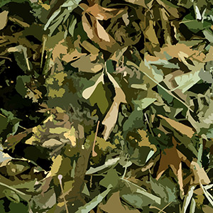 woodland hunting camo pattern with lush greens